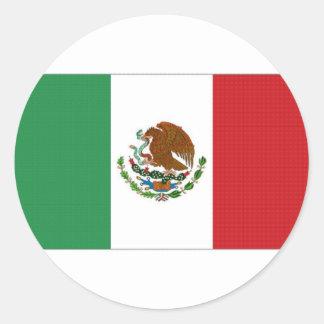 Mexico National Flag Round Sticker
