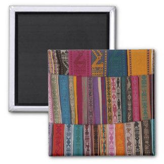 Mexico, Oaxaca Province, Oaxaca, woven belts on Magnet