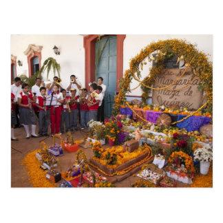 Mexico, Oaxaca Province, Ocotlan, students in Postcard