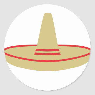 mexico party sombrero round sticker