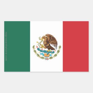 Mexico Plain Flag Rectangular Sticker