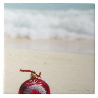 Mexico, Playa Del Carmen, christmas decoration Ceramic Tile