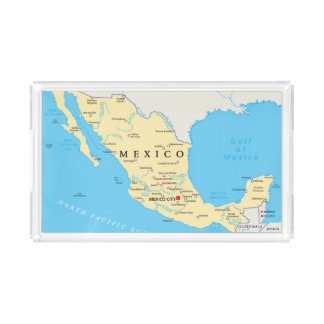 Mexico Political Map Acrylic Tray