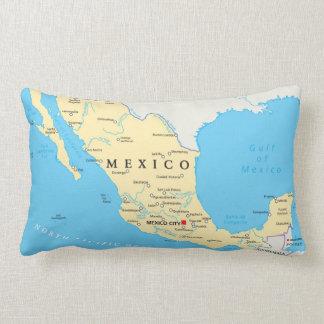 Mexico Political Map Lumbar Pillow