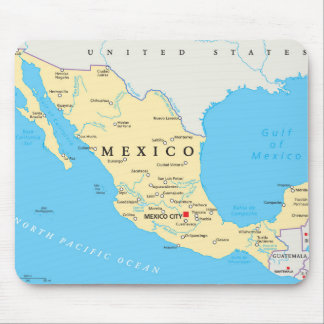 Mexico Political Map Mouse Pad