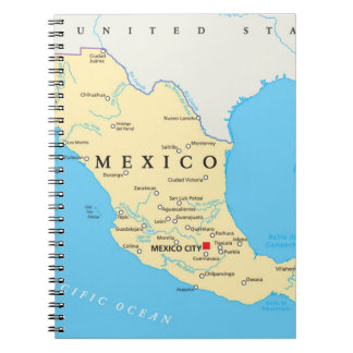 Mexico Political Map Notebook