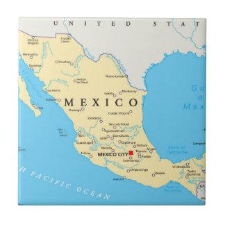 Mexico Political Map Tile