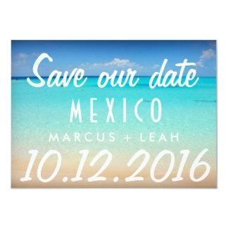 Mexico Postcard Destination Wedding Save Date
