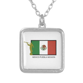 MEXICO PUEBLA MISSION LDS CTR SILVER PLATED NECKLACE