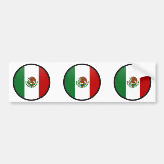Mexico quality Flag Circle Bumper Sticker