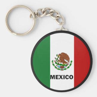 Mexico Roundel quality Flag Keychain