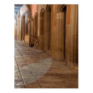 Mexico, San Miguel de Allende, Sidewalk with Postcard