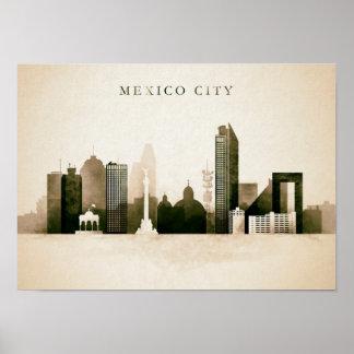 Mexico skyline poster