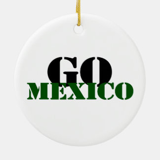 Mexico Soccer Ceramic Ornament