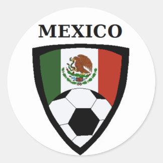 Mexico Soccer Classic Round Sticker