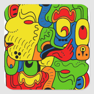 Mexico Square Sticker