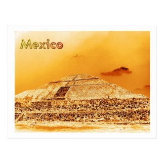 Mexico Sun Pyramid Postcard