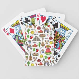Mexico | Symbols Pattern Bicycle Playing Cards