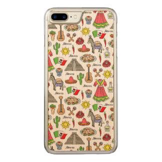 Mexico | Symbols Pattern Carved iPhone 8 Plus/7 Plus Case