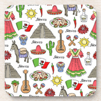 Mexico   Symbols Pattern Coaster