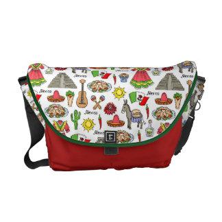 Mexico | Symbols Pattern Commuter Bag