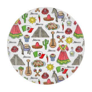 Mexico | Symbols Pattern Cutting Board