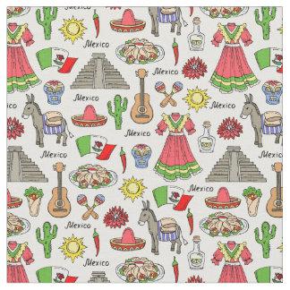 Mexico | Symbols Pattern Fabric