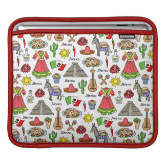 Mexico | Symbols Pattern iPad Sleeve