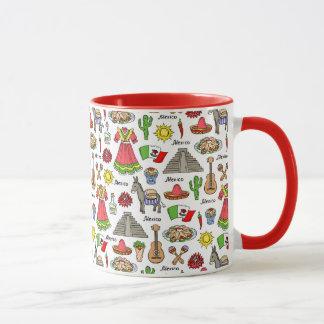 Mexico | Symbols Pattern Mug