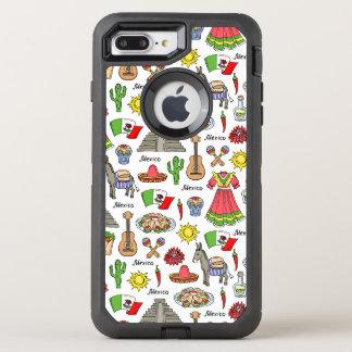 Mexico | Symbols Pattern OtterBox Defender iPhone 8 Plus/7 Plus Case