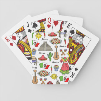 Mexico | Symbols Pattern Playing Cards