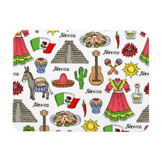 Mexico | Symbols Pattern Rectangular Photo Magnet