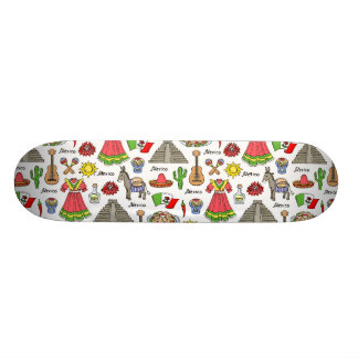 Mexico | Symbols Pattern Skate Boards