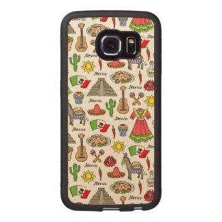 Mexico | Symbols Pattern Wood Phone Case