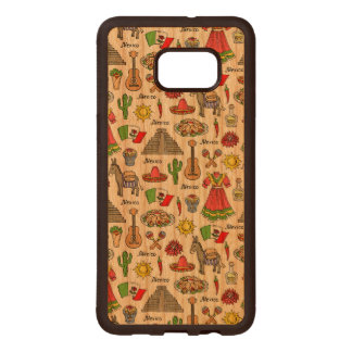 Mexico | Symbols Pattern Wood Samsung Galaxy S6 Edge Case