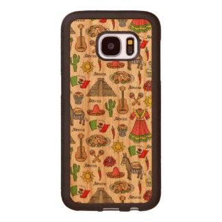 Mexico | Symbols Pattern Wood Samsung Galaxy S7 Case