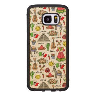 Mexico | Symbols Pattern Wood Samsung Galaxy S7 Edge Case