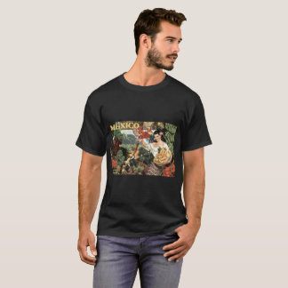 Mexico vintage image, Men's Basic Dark T-Shirt
