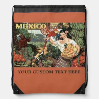 Mexico vintage travel bags backpack