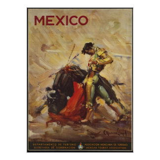 Mexico Vintage Travel Poster Ad Retro Prints