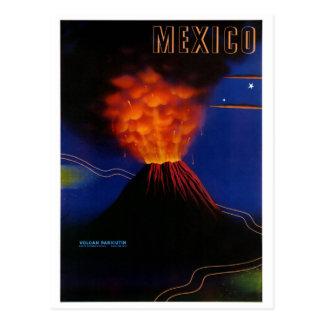 Mexico Volcano Paricutin Vintage Poster Restored Postcard