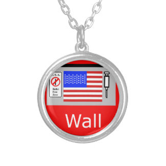 Mexico Wall Silver Plated Necklace