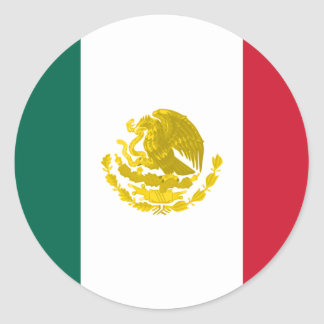 Mexico with Full Golden Arms, Mexico Round Sticker
