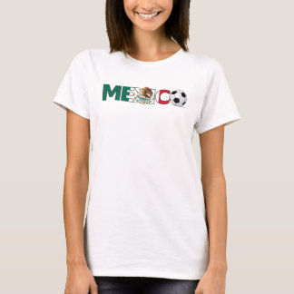 Mexico with Soccer Ball  Ladies Spaghetti Top