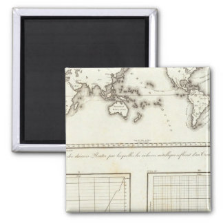 Mexico World One world map Square Magnet