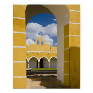 Mexico, Yucatan, Izamal. The Franciscan Convent 2 Poster