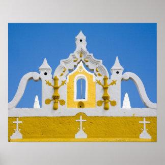 Mexico, Yucatan, Izamal. The Franciscan Convent 3 Poster