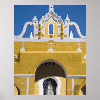 Mexico, Yucatan, Izamal. The Franciscan Convent Poster