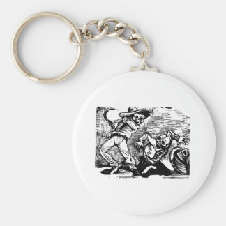 "Mexico's ""Day of the Dead."" circa 1894 Basic Round Button Keychain"