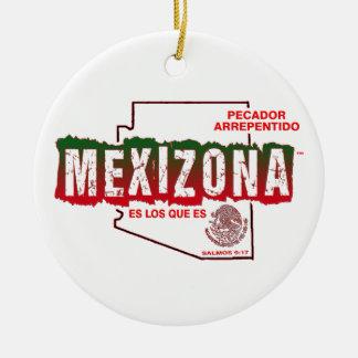 MEXIZONA ROUND CERAMIC ORNAMENT